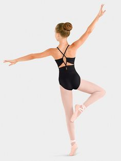 GIRLS DOUBLE LOOP BACK CAMISOLE LEOTARD allaboutdance.com
