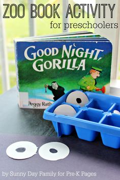 Zoo Book Activity: Matching Eyes Inspired by the Classic Children's Book Good Night, Gorilla. A fun and educational matching activity that is also a craft. Perfect for a Zoo Theme Bulletin Board too!