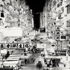 Photo Series 'City of Neon Lights' Captures Hong Kong Atmosphere in Black and White