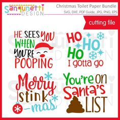 Christmas toilet paper bundle SVG, gag gift cut file for silhouette or cricut Christmas Toilet Paper, Christmas Svg, Christmas Projects, Christmas Humor, Christmas Printables, Christmas Ideas, Xmas, Christmas Ornaments, Paper Embroidery
