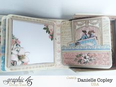 Boxed Mini Album, Gilded Lily, by Danielle Copley, product by Graphic 45