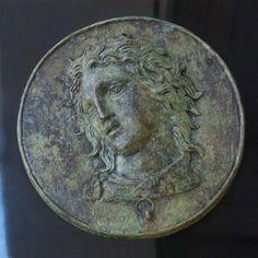 Griechischen Gott Pan Metall Reliefskulptur, antiken Spiegel Cover, griechische Kunst, griechische Mythologie, griechische Skulptur, Museum Kunst Replica, Kunst-Geschenk