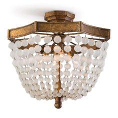 Semi Flush Lighting, Semi Flush Ceiling Lights, Ceiling Lighting, Foyer Lighting, House Lighting, Lighting Ideas, Pendant Lighting, Crystal Beads, Crystals