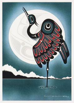 Blue Lake by Yukie Adams. via Native Crafts and Jewelery Arte Inuit, Arte Haida, Haida Art, Inuit Art, Native American Design, American Indian Art, Doodles Zentangles, Art Premier, Steel Art