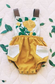 Handmade Vintage Style Baby Romper | TheStagandTheSwan on Etsy