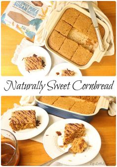 Naturally Sweet Cornbread uses one bowl to make, has only 8 ingredients and is naturally sweetened with Madhava Coconut Sugar.