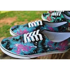 a343c499e793 Galaxy Shoes Vans or Toms (Made to Order) (325 BRL) ❤ liked