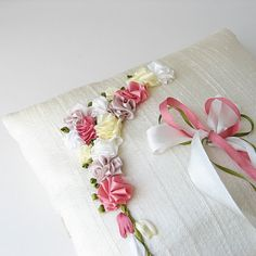 pretty silk ribbon embroidery