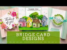 Bridge cards with extra dimension ~ video tutorial by Jennifer McGuire Fun Fold Cards, Folded Cards, Card Making Inspiration, Making Ideas, Pop Up, Bridge Card, Jennifer Mcguire Ink, Zealand Tattoo, Interactive Cards