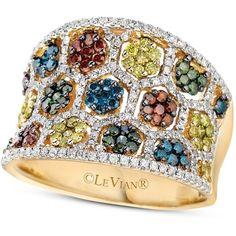 Le Vian Mixberry diamond concave ring