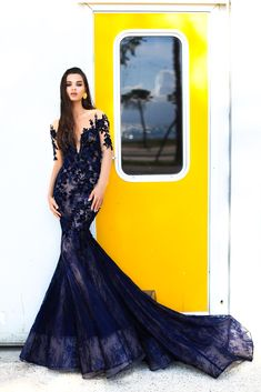 Dress like a queen and play the part in the striking Linda Evening Dress by  Tarik 4e9e597f5