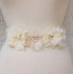 bridal sash by Fancie Strands
