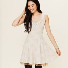 Free people embellished beaded layered tulle dress Super cute party dress, worn once for New Years. Cover photo is to show style. The details are different, but this dress is the same shape as the first picture shown. Actual dress and details are pictured otherwise. Any questions, feel free to ask! ❌no PayPal, no trades, no low balling ❌ Free People Dresses