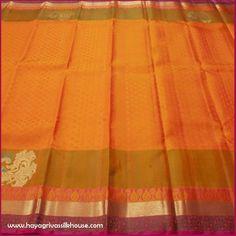 Buy Kanjivaram Sarees Online from our exclusive Kancheepuram Silk Sarees, Kanjeevaram & Kanchi Pattu Sarees online shopping collection at Hayagrivas.