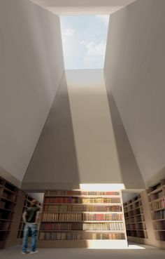 Internal view from one of the reading rooms