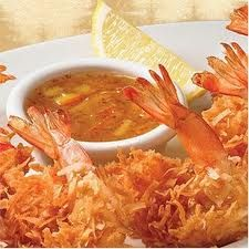 Delicious Family Recipes: Crunchy Coconut Shrimp--with pina colada dipping sauce! Fried Coconut Shrimp, Coconut Shrimp Recipes, Fried Shrimp, Shrimp Dip, Restaurant Recipes, Seafood Recipes, Cooking Recipes, Copycat Recipes, Crawfish Recipes