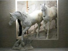 I love horses Horse Sculpture, Wall Sculptures, 3d Wall Art, Wall Murals, 3d Artwork, Plaster Art, Wow Art, Equine Art, Horse Art