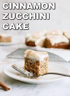 Cinnamon Zucchini Cake with Cream Cheese Frosting   Six Sisters' Stuff Cream Cheese Desserts, Cake With Cream Cheese, Fluffy Cream Cheese Frosting, Cream Cheeses, Fun Desserts, Delicious Desserts, Yummy Food, Yummy Treats, Sweet Treats