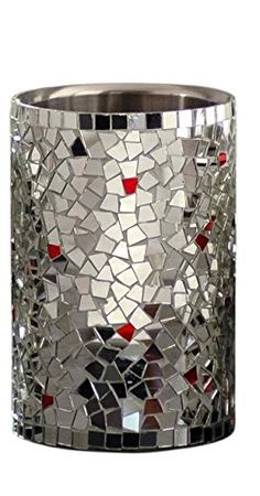 DMA Elements Home StainlessSteel Wine Chiller with Silver and Red Mosaic Tile Design >>> Details can be found by clicking on the image.