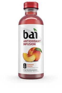 Bai Antioxidant Infusion Beverage, Panama Peach, 18 Fl Oz (Pack of 12)