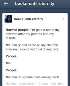 Lemme see ummm Percy annabeth Leo Jason piper frank hazel Rachel Reyna NICO Bianca Zoe Luke grover Clarisse conner travis Thalia chris Katie Selena Beckendorf ( Charlie ) calypso  tris TOBIAS Will Christina Uriah Katniss Peeta Gale Prim Finnick Annie - guys I have a lot more ideas but by then my stomach would look like a jungle with all of those stretch marks