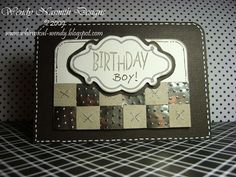 Love the texture on this - metallic masculine card!