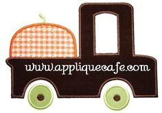 Pumpkin Truck Applique Design