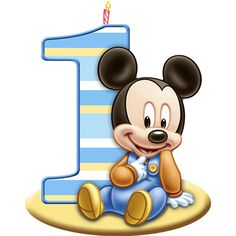 Mickeys 1st Birthday Candle | Wally's Party Supply Store