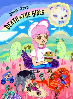 """readthiscomic: """"Donya Todd's DEATH & THE GIRLS Donya Todd's Death & the Girls are the hedonistic misadventures of Bunny, Betty and Bathstone; Comics Girls, A Comics, Aesthetic Wallpapers, Novels, Bunny, Death, Things To Come, Books, Mexican Desert"""