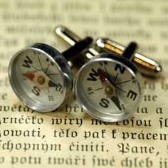 compass cuff links | cool and useful