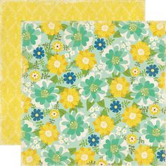 Echo Park - For the Record 2 Collection - Documented - 12 x 12 Double Sided Paper - Floral at Scrapbook.com $0.89