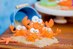 Crab cake pops from a Baby Sea Animal Birthday Party on Kara's Party Ideas | KarasPartyIdeas.com (23)