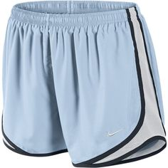 Nike Tempo Track Women's Running Shorts - Pale Blue, XL ($19) ❤ liked on Polyvore featuring activewear, activewear shorts, shorts, bottoms, nike shorts, pajamas, sport shorts, nike activewear, nike sportswear and nike