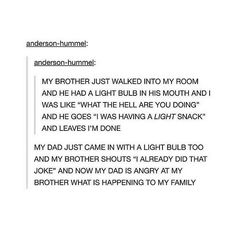I feel like my family would do this...