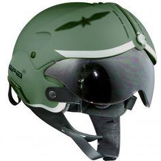 Casque Jet GPA Aircraft Militaire Vert - Ca, c'est pour le jour où je m'achète un scooter. A la Top Gun :-)