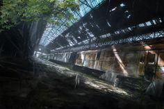 Abandoned train by Jakub Skop | Matte Painting | 2D | CGSociety