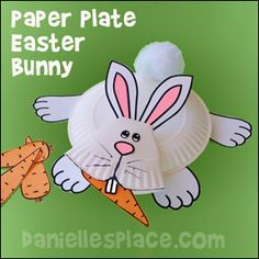 Easter Bunny Paper Plate Craft for Kids from www.daniellesplace.com