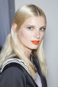 Rag & Bone does its first bold lip ever! Click to see the gorgeous look up-close.