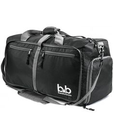 Medium Gym Duffle Bag with Pockets - Foldable Lightweight Travel Bag -  Black - CY186AW09EC d91b304e6a284