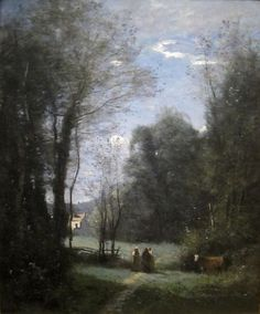 Jean-Baptiste-Camille Corot: 'The Maison Blanche de Sevres', 1872, oil on canvas, Dimensions:Height: 72.4 cm (28.5 in). Width: 60.6 cm (23.9 in), Cincinnati Art Museum.