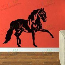 gratis verzending muurstickers groot-en detailhandel muur decor pvc materiaal stickers behang muurschildering dier paard m-406(China (Mainland))