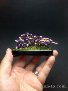Purple gold wire raft style bonsai tree by Ken To by KenToArt on deviantART
