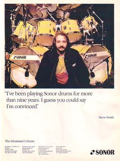 The Best and Worst of Drum Industry Vintage Advertising — The Drummer's Journal Dope Music, Indie Music, Steve Gadd, Zildjian Cymbals, Neal Schon, Vintage Drums, Steve Smith, Steve Perry, Drummer Boy