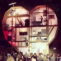 Big wooden heart.