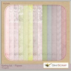 Spring kit - Papers by Giny Scrap : Scrap Art Studio, Where Creativity Soars