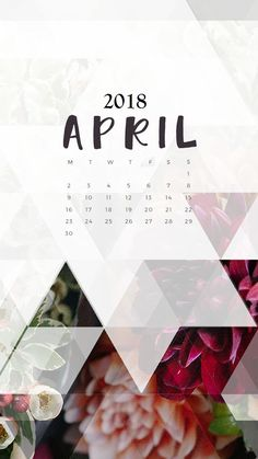 iPhone Calendar April 2018