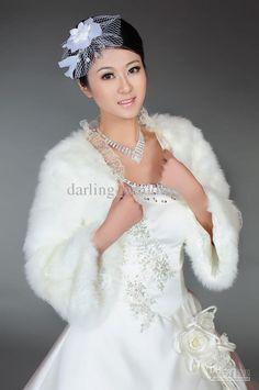 Wholesale Hot sale Lace edge Long sleeves Fur Bridal Jacket Wraps Winter Bride Wrap Wedding accessories, Free shipping, $16.8-22.4/Piece | DHgate