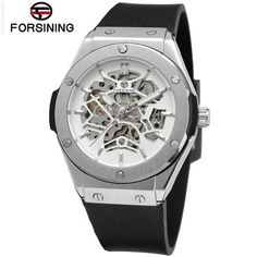 Cheap watch gold, Buy Quality watches bmw directly from China watch spider man cartoon Suppliers: Men Automatic Watches Skeleton Mechanical Watch Hub Top Luxury Brand Sports Watch relogio automatic masculino Silicone Strap Skeleton Mechanical Watch, Automatic Skeleton Watch, Skeleton Watches, Automatic Watch, Skeleton Clock, Sport Watches, Watches For Men, Men's Watches, Dress Watches