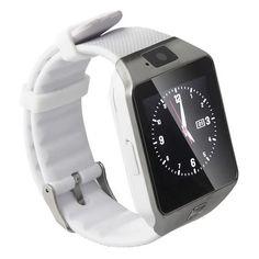 DZ09 SmartWatch Phone/Camera/Bluetooth/MMC/Touch Screen (White) | Lazada Malaysia