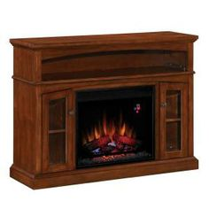 47.5 in. Electric Firplace Media Console with Remote-73719 at The Home Depot